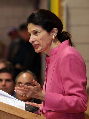 Sen. Olympia Snowe in Augusta, Maine, Saturday, Feb. 4, 2012.