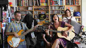 Pistolera performs a Tiny Desk Concert at the NPR Music offices.
