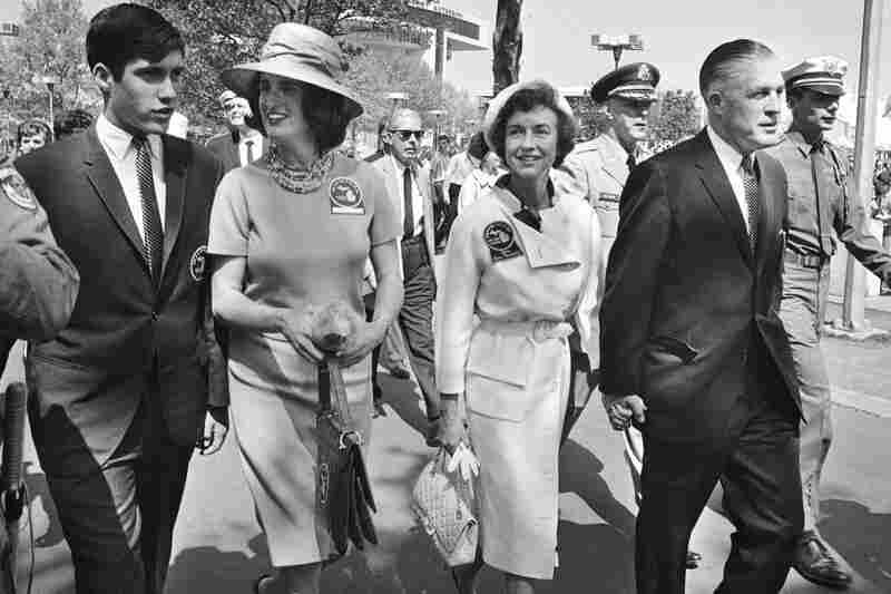 George Romney, then the governor of Michigan, walks with family members to the World's Fair in New York in May 1964. Mitt is at far left.