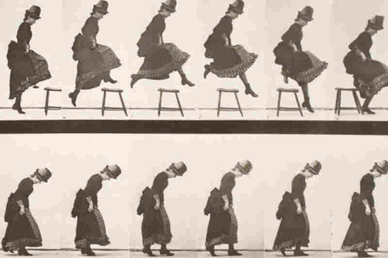 "One of the many ""motion"" series photographs made by photographer Eadweard J. Muybridge, circa 1884-87"