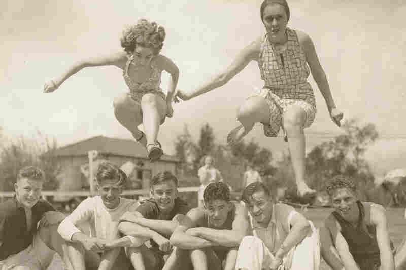 On a playground, circa 1930s