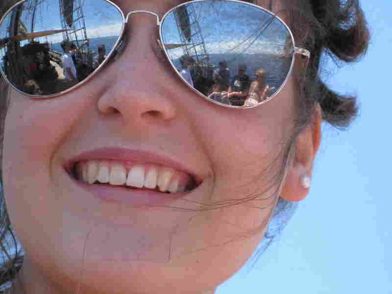 Paige M., 9: We were on a family boat trip around the Balearic Islands in June 2011. The reflection of my friend's glasses is what makes this picture so interesting.