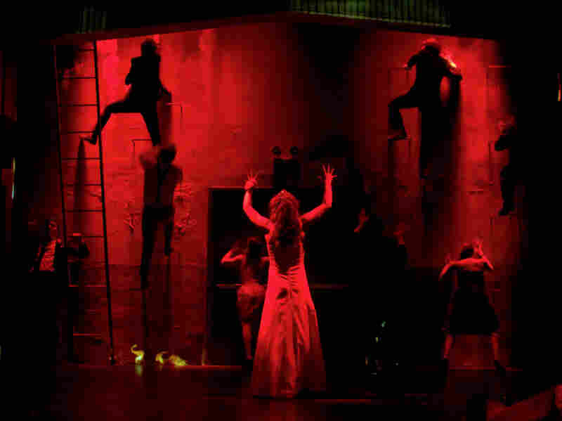To get around some of the special effects-heavy aspects of Carrie's supernatural story, the production employs several more theater-specific strategies.