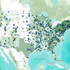 The Know Your Farmer interactive map shows USDA-supported projects and programs related to local and regional food systems for the years 2009-2011.
