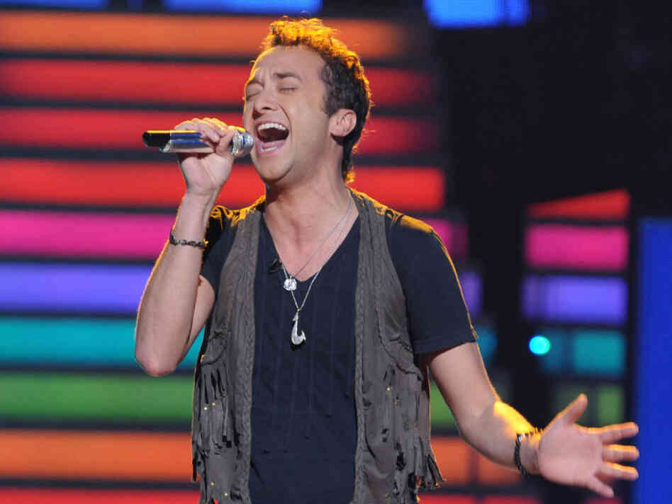 Contestant Creighton Fraker performs on the first week of American Idol's semifinals week.
