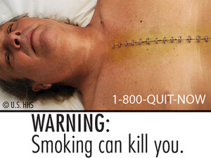 One of the cigarette labels a federal judge says goes too far.