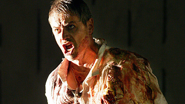 Baritone William Shimell sings the title role in Handel's opera  Hercules in Aix-en-Provence in 2004.  (AFP/Getty Images)