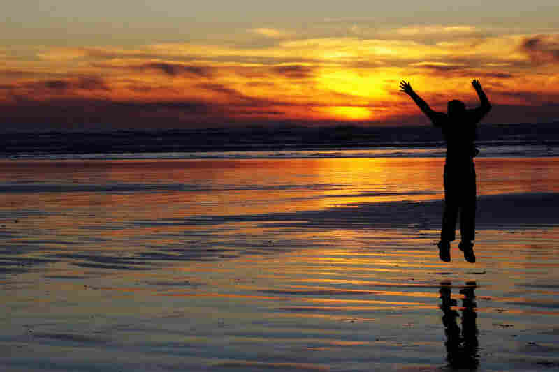 Molly Duttry, 14: This is a picture of my sister jumping in front of a sunset at Ocean Shores, Wash. The ocean is one of my favorite places in the world.