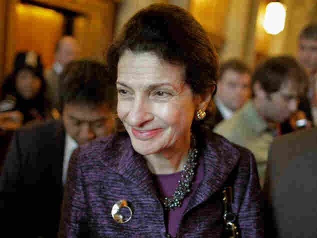 Senator Olympia Snowe, R-Maine, is seen here heading into weekly Senate Republican policy luncheon on Nov. 29, 2011 in Washington, DC. She announced her resignation on Feb. 29 citing increasing partisanship in Congress.