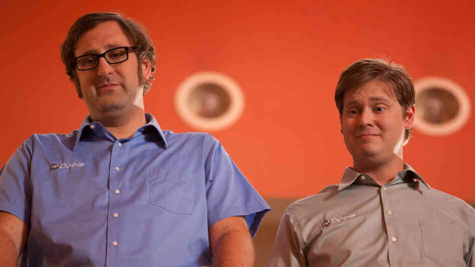 Eric Wareheim (left) and Tim Heidecker apply their boundary-pushing style of sketch comedy to the long-form narrative when they play fictionalized versions of themselves who must find a way to raise a billion dollars in Tim & Eric's Billion Dollar Movie.