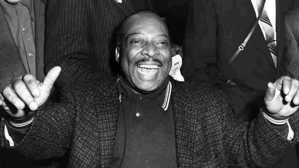 Count Basie performs at the Royal Festival Hall in London. He and his band are embarking on a tour of Britain, and this is their first venue.