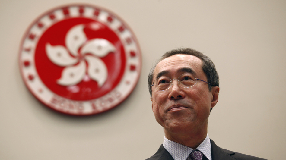 Henry Tang (shown here in September 2011), the former head of Hong Kong's civil service, was once the front-runner in the race to be the island's next leader. Now, a series of scandals has hurt his prospects.  (Reuters/Landov)