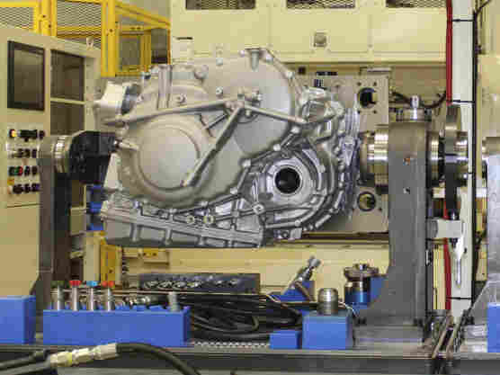 Honda has a huge presence in Ohio, where the company and its suppliers are hiring. Here two advanced continuously variable transmissions undergo leak testing at the new assembly line at the Honda plant in Russells Point, Ohio.