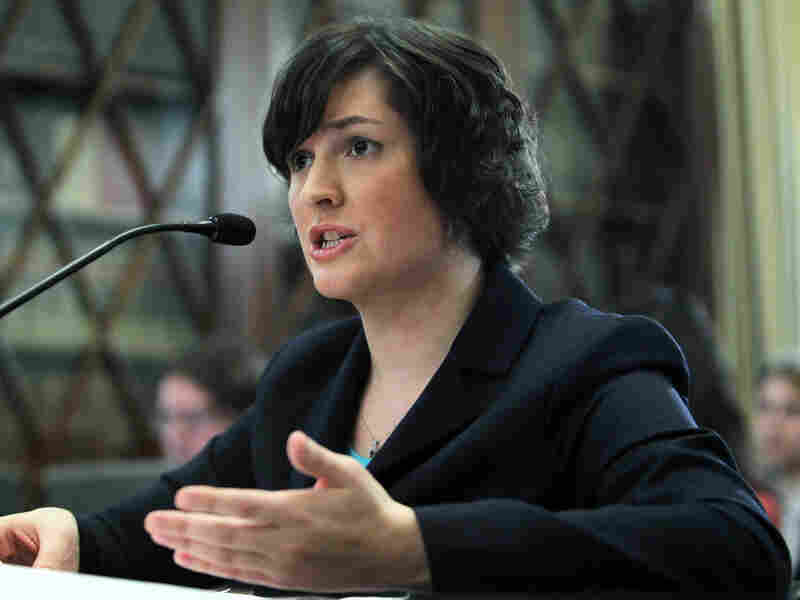 Sandra Fluke, a third-year law student at Georgetown University, testifies before the House Democratic Steering and Policy Committee Feb. 23, 2012 in Washington, DC. Fluke has been the subject of controversial remarks by Rush Limbaugh on birth control.