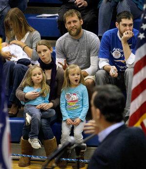 Rick Santorum speaks Friday in Chillicothe, Ohio.