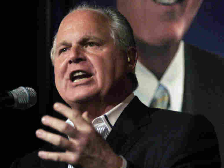 A photo of radio talk show host and conservative commentator Rush Limbaugh from May 3, 2007. Limbaugh made what many consider disparaging comments about a Georgetown law student, Sandra Fluke. Fluke testified before Congress in support requiring employers to provide contraceptive coverage.
