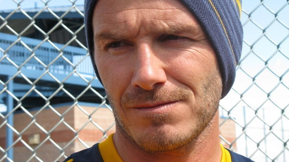 The Galaxy's David Beckham says he's glad to give up a grueling travel schedule for a few weeks in Tucson. (NPR)