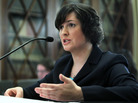 Sandra Fluke, a third-year law student at Georgetown University, during her House testimony about contraceptives and insurance coverage.