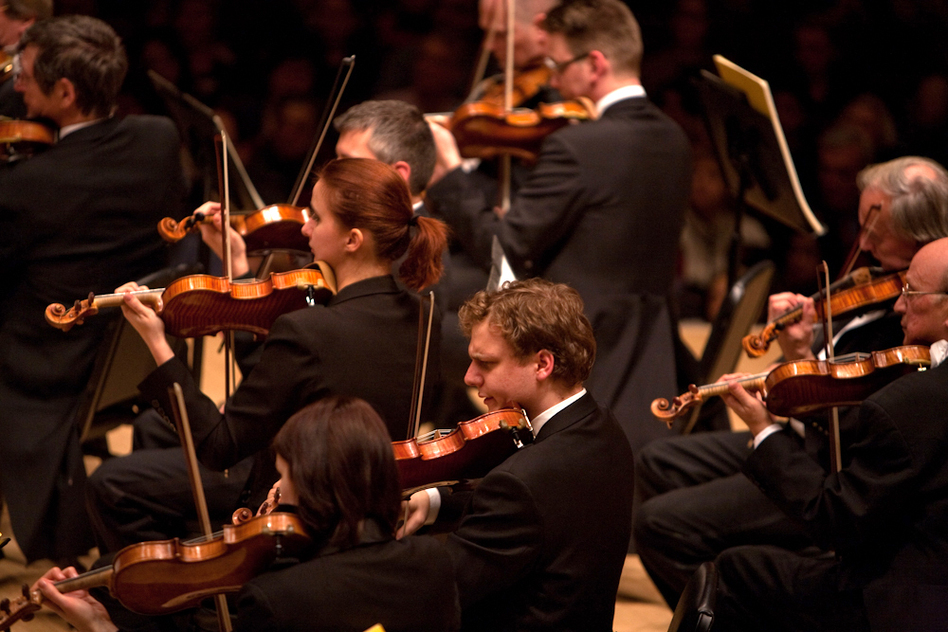 """According to the Vienna Philharmonic's own description, their string section """"is more like a workshop in  the Middle Ages, where newlyarrived musicians are initiated into and  absorb the secrets of the orchestra's special musical style."""""""