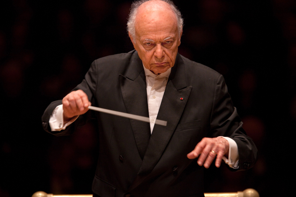 """The evening's second half was dedicated to Maazel's own arrangement of Wagner's 17-hour """"Ring"""" cycle — down to a 70-minute suite for orchestra, with no singing."""