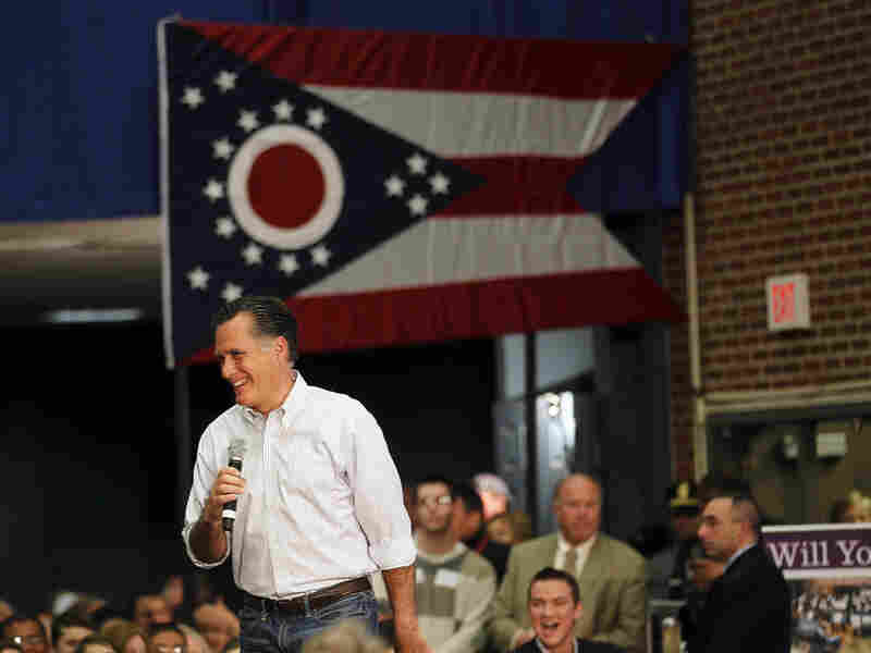 Republican presidential candidate Mitt Romney speaks at a town hall meeting at Capital University in Bexley, Ohio on Wednesday.