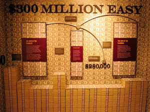 "A general view shows the ""skim room,"" where mobsters would steal some of the cash in a casino's counting room, at The Mob Museum Feb. 13, 2012 in Las Vegas, Nevada. During the the first year of the recovery, 93 percent of income gains went to the top one percent."
