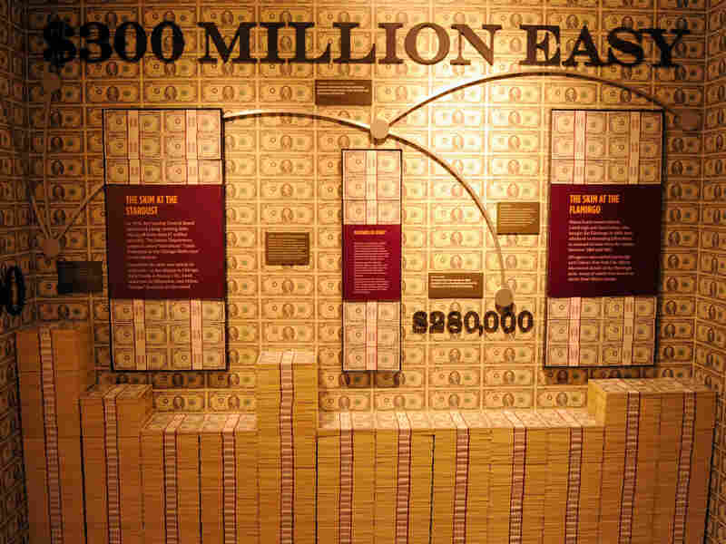 """A general view shows the """"skim room,"""" where mobsters would steal some of the cash in a casino's counting room, at The Mob Museum Feb. 13, 2012 in Las Vegas, Nevada. During the the first year of the recovery, 93 percent of income gains went to the top one percent."""