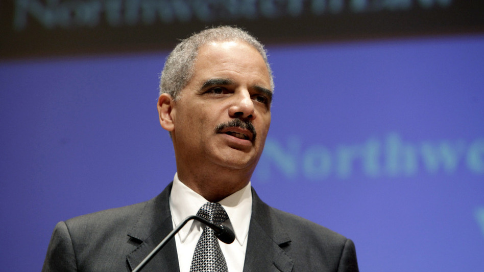 U.S. Attorney General Eric Holder gives a speech at Northwestern Law School on Monday in Chicago. (Getty Images)