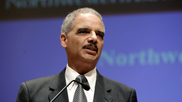 Attorney General Eric Holder discusses the controversial U.S. drone program during a speech at Northwestern Law School in Chicago on Monday. (Getty Images)