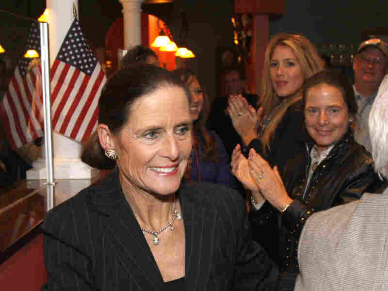 This Nov. 4, 2008, file photo shows Republican Rep. Jean Schmidt being congratulated by supporters in Loveland, Ohio. Schmidt is up against three other Republicans in the March 6 primary.