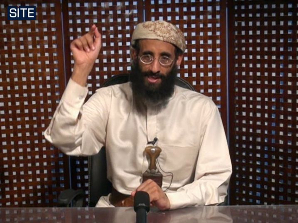 In this image taken from video and released by SITE Intelligence Group, U.S.-born cleric Anwar al-Awlaki speaks in a video message posted on radical websites in November 2010. Awlaki was killed in a U.S. drone strike in 2011. (AP)