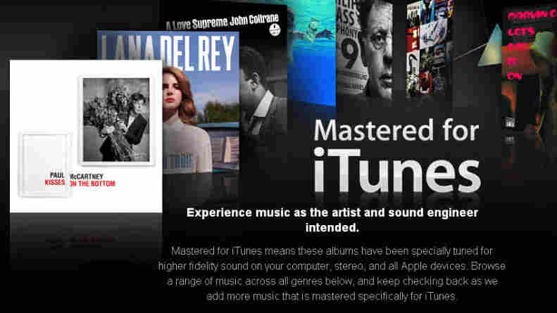 Apple's 'Mastered for iTunes' store.