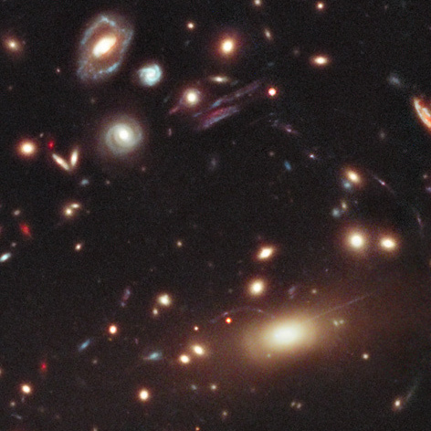 Observations of the galaxy cluster known as MACS 1206 by the Cluster Lensing And Supernova survey with Hubble (CLASH) should help astronomers create detailed maps of Dark Matter in the region.
