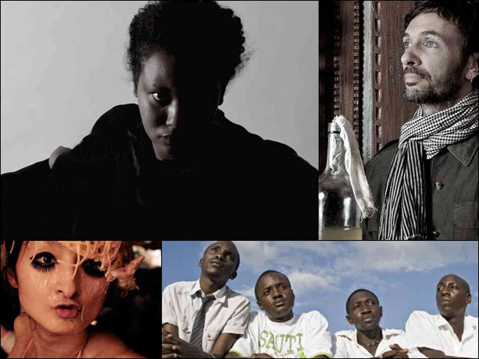 Mirel Wagner (clockwise from upper left), Filastine, Sauti Sol and Trippple Nippples.