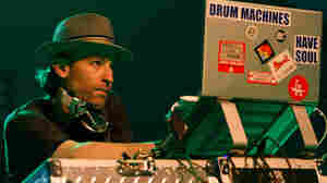 DJ Peanut Butter Wolf performs at Coachella Valley Music & Arts Festival.