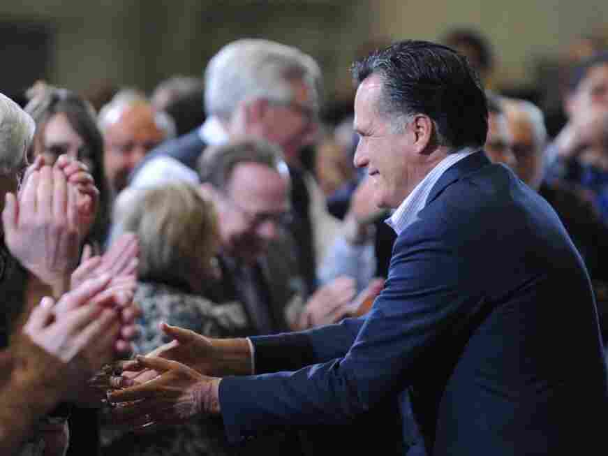 Mitt Romney engaged in a last bout of campaigning in Youngstown, Ohio, on Monday. Ohio is widely considered Super Tuesday's biggest prize.
