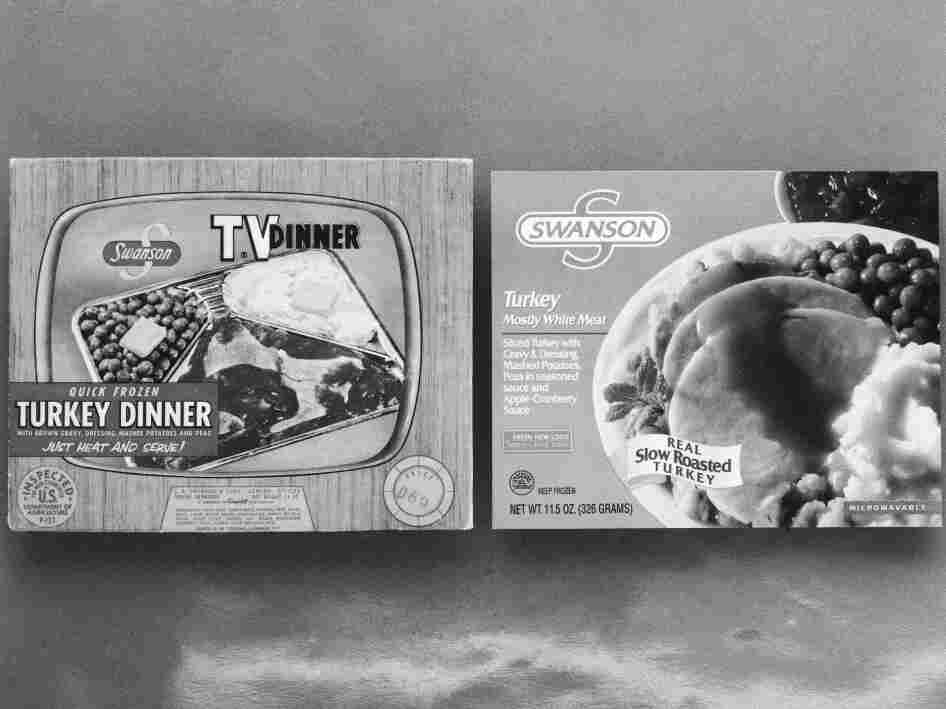 C.A. Swanson & Sons of Omaha, Neb., celebrates the 40th anniversary of the TV dinner, in 1994. Originally sold for 98 cents in 1954, in a package with a picture of a TV set with knobs, it became the first TV dinner — which changed American culture so much that the original package is now in the Smithsonian.