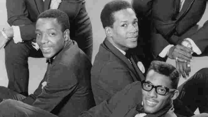 Paul Williams, Eddie Kendricks, and David Ruffin of the Temptations, in 1965.