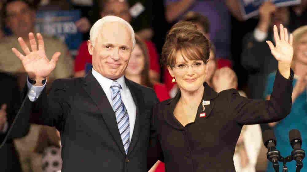 Ed Harris and Julianne Moore star as Arizona Sen. John McCain and Alaska Gov. Sarah Palin in the HBO made-for-TV movie Game Change, based on a book by John Heilemann and Mark Halperin about the 2008 presidential race.