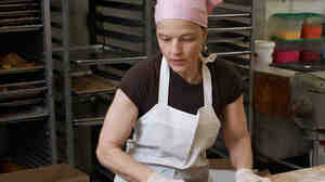 Margaret Palca in her bakery in Brooklyn, N.Y.