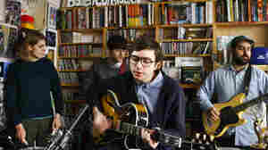 Real Estate performs a Tiny Desk Concert at the NPR Music offices on Jan. 23, 2012.