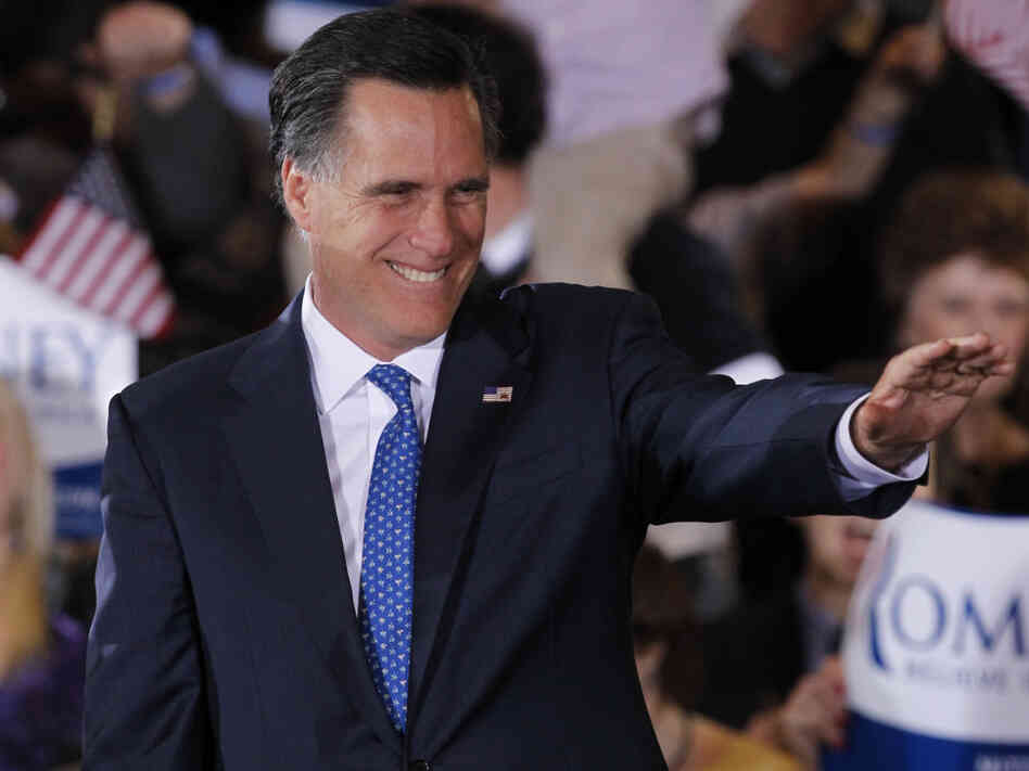 Former Massachusetts Gov. Mitt Romney addressed supporters at a Super Tuesday rally in Boston on Tuesday. His home state was one of the six he won Tuesday night.