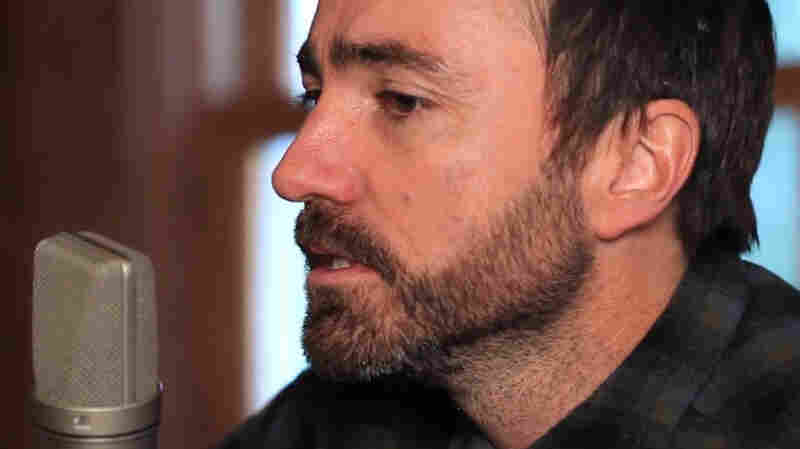 James Mercer performs in his studio in Portland
