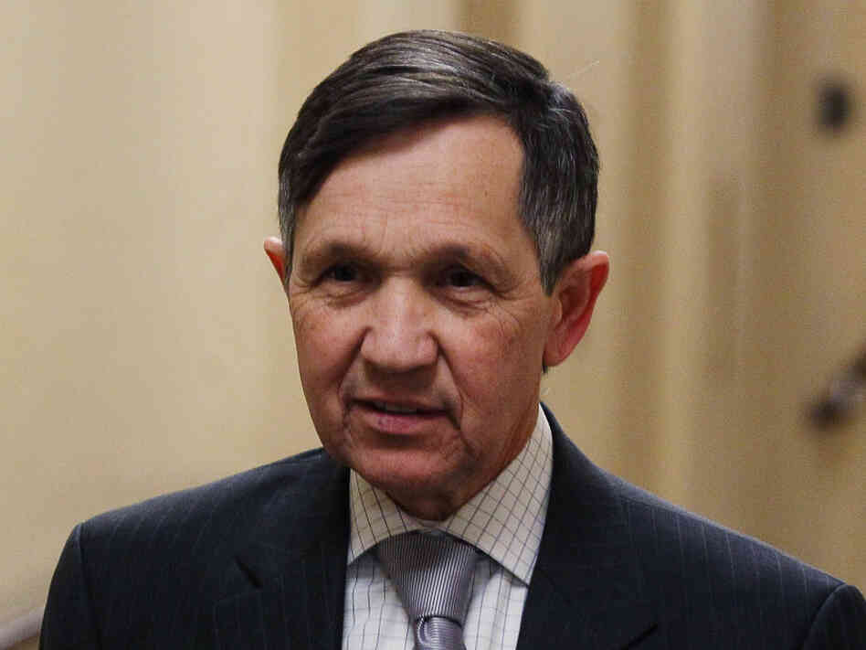U.S. Rep. Dennis Kucinich, D-Ohio, walks to a House Democratic caucus meeting on Jan. 4, 2011 in Washington, DC. Kucinich lost to his Democratic primary challenger Marcy Kaptur on Tuesday, a fellow Representative.