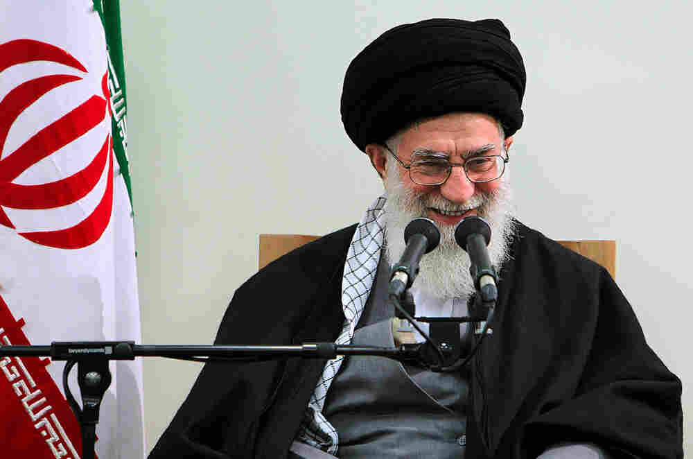 A handout photo provided by the office of Iran's supreme leader Ayatollah Ali Khamenei shows him addressing a meeting with members of the Assembly of Experts in Tehran on Thursday.