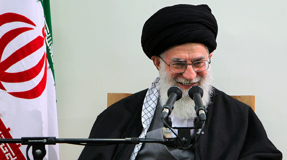A handout photo provided by the office of Iran's supreme leader Ayatollah Ali Khamenei shows him addressing a meeting with members of the Assembly of Experts in Tehran on Thursday. (AFP/Getty Images)