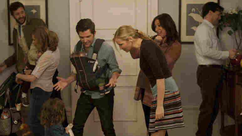 Chris O'Dowd (left), Kristen Wiig, Adam Scott, Jennifer Westfeldt, Maya Rudolph and Jon Hamm play 30- and 40-somethings approaching parenthood from vastly different angles in Friends With Kids. Westfeldt wrote and directed the film.