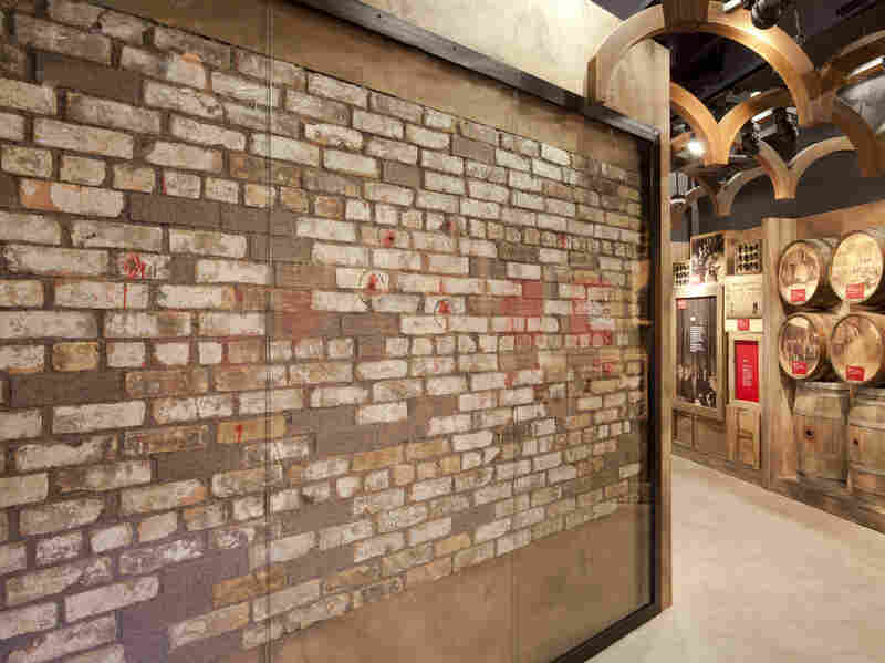 Included in the museum's collection is a bullet-hole riddled brick wall against which seven men were executed in 1929's St. Valentine's Day Massacre.