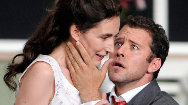 Soprano Veronique Gens and tenor Joseph Kaiser star in a production of Gluck's Alceste at the 2010 Aix-en-Provence Festival.  (AFP/Getty Images)