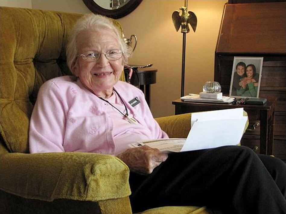 Helen Hobbs, 93, is one Oregonian who has taken advantage of a standardized form to legally record her wishes for end-of-life care. (Oregon Public Broadcasting    )